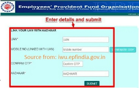 Aadhar PAN Card EPF Account